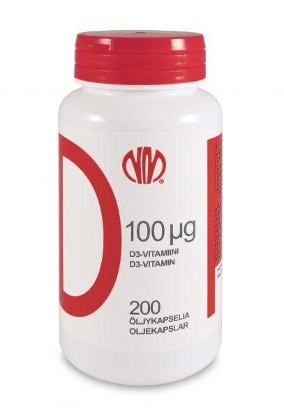 Vitamiin D3 Natura Media 200 kapslit