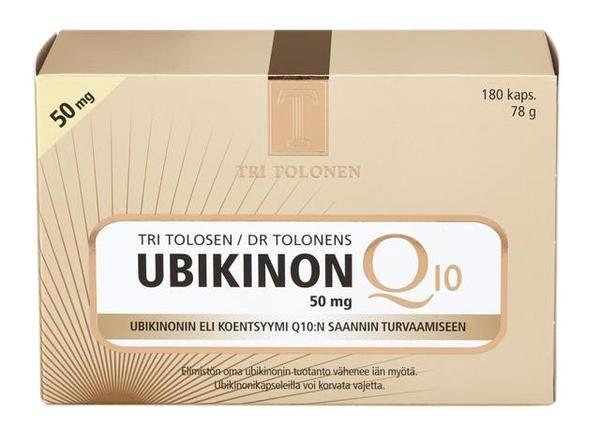 Ubikinon Q10 50mg 180 kaps Dr Tolonen