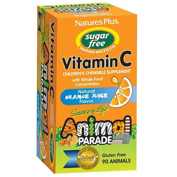 Vitamiin C Lastele Suhkruvaba Natures Plus 90 tbl