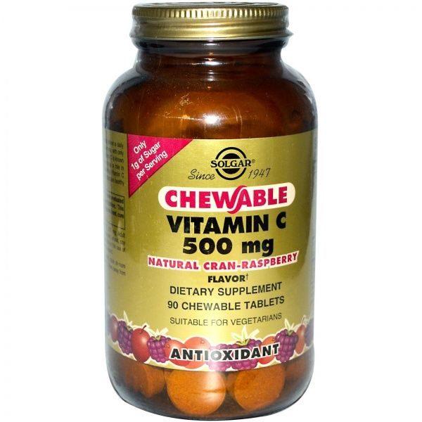 C vitamiin 500mg imemistabletid (jõhvikas/vaarikas)90 tbl