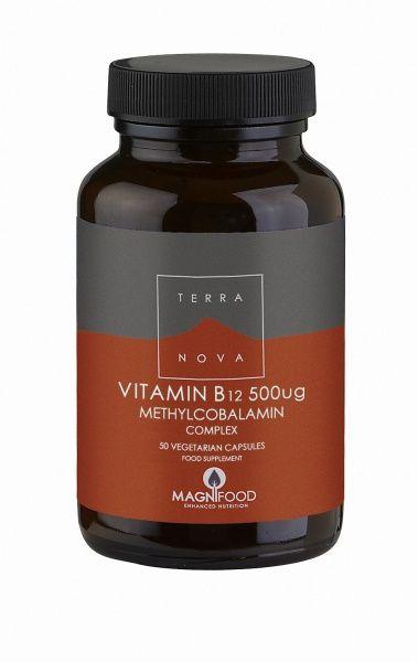 B12-vitamin 500 ug Complex 50 kaps Terranova (Vegan)