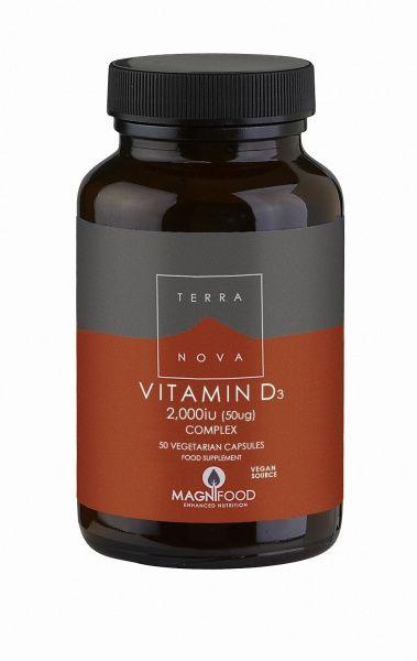 Vitamin D3 50uq 50kaps Terranova (Vegan)