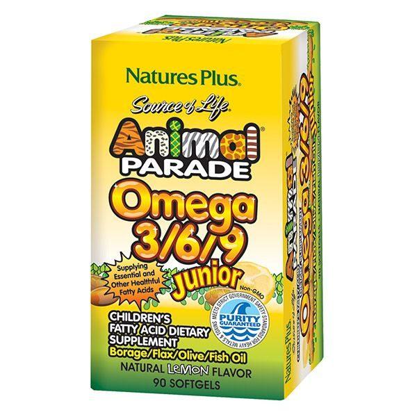 Omega 3-6-9 lastele Natures Plus 90 kapslit