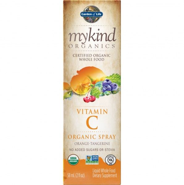 C vitamiin Garden of Life mykind orgaaniline spray 58 ml