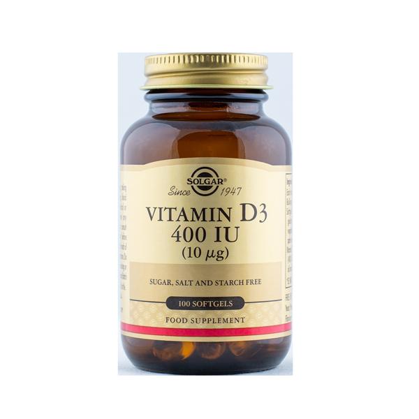 033984033207 Vitamiin D3 400IU 100kaps