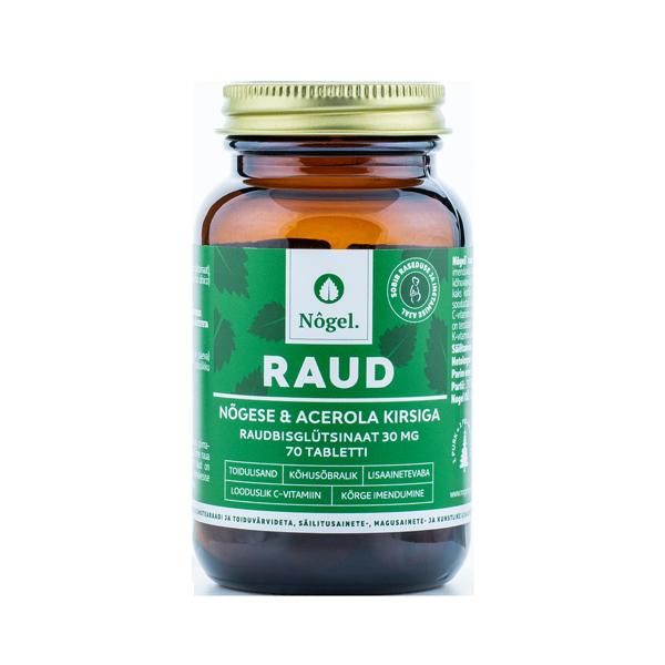 4742023680017 – Raud nõgese ja acerola kirsiga 30 mg, 70 tabletti, 42 g