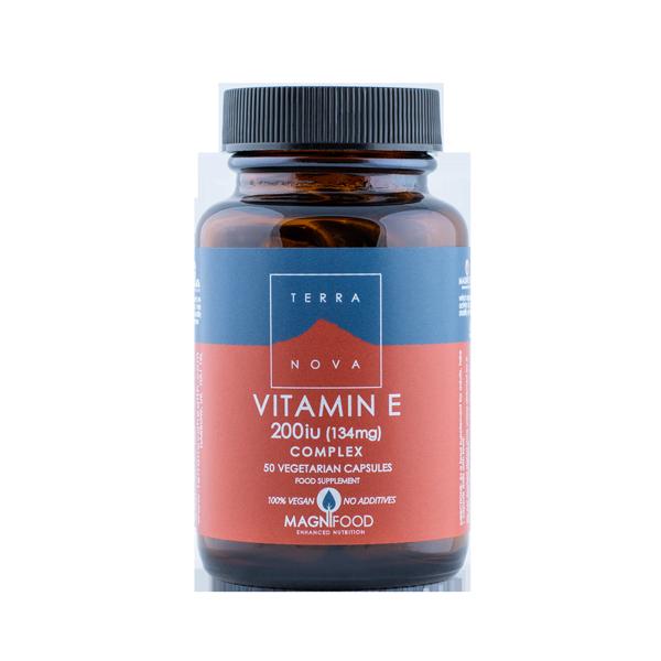 5060203790523 E-vitamiin 200IU 50kaps, Terranova (Vegan)