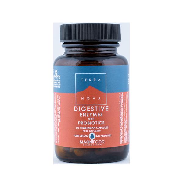 5060203790769 Digestive Enzymes koos Probiootikumidega 50 kaps, Terranova (Vegan)