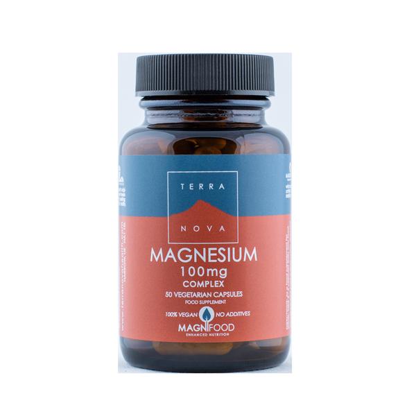5060203791247 Magneesium 100mg, 50kaps, Terranova (Vegan)