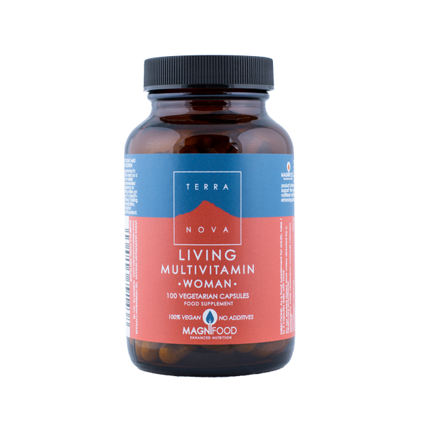 5060203791438 Living Multivitamin WOMAN 100 kaps, Terranova (Vegan)