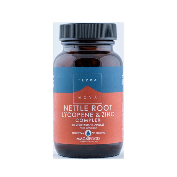 5060203791742 Nettle Root, Lycopene & Zinc Complex 50 kaps Terranova (Vegan)