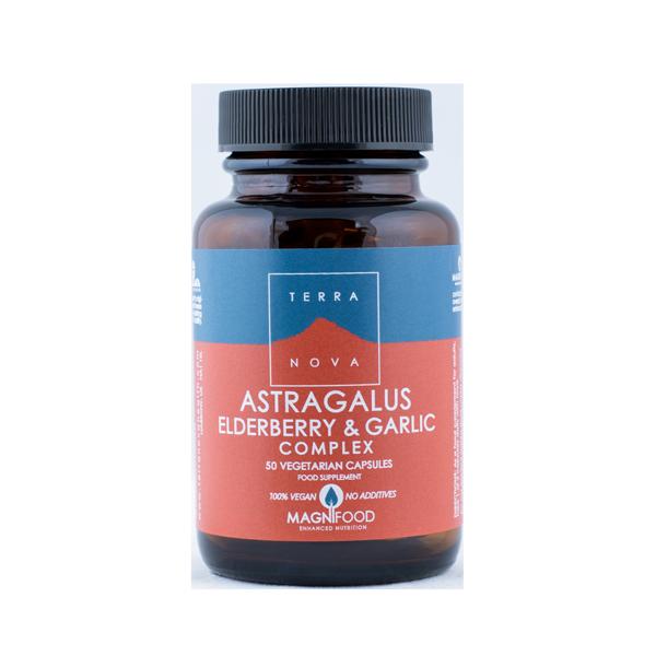 5060203791773 Astragalus, elderberry _ garlic Complex 50 kaps Terranova (Vegan)
